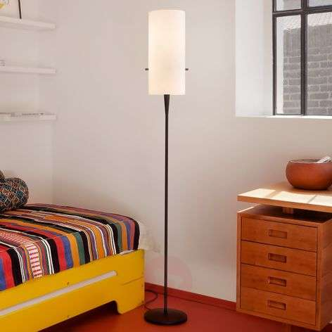 Slim designer floor lamp Club with chintz shade-8550013-31