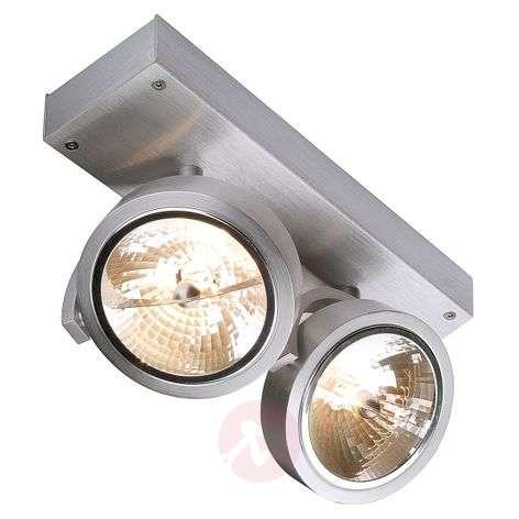 SLV Kalu 2 - two-bulb spotlight, brushed aluminium