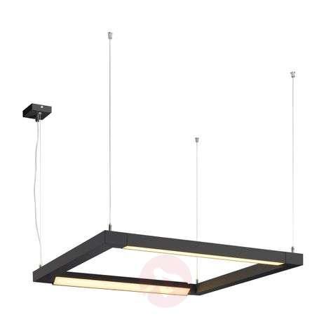 SLV Open Grill LED hanging light black two-bulb