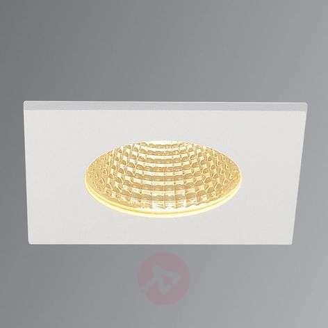 SLV Patta I LED recessed light, angular matt white