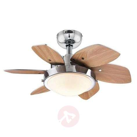 Small ceiling fan Quince with light, wenge-beech-9602271-31