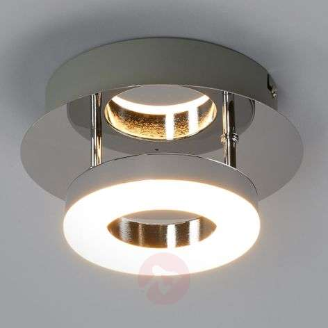 Small chrome ceiling lamp Daron with LEDs