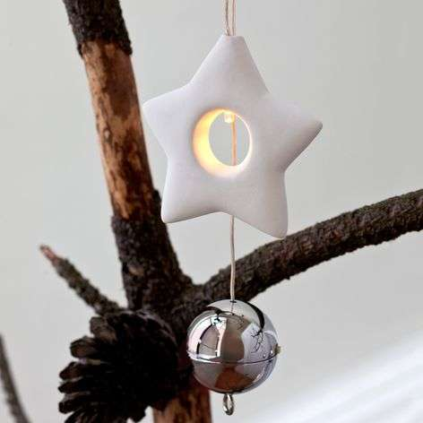 Small decorative LED ceramic Star Olina