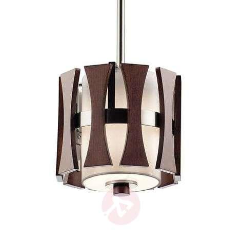 Small wooden hanging light Cirus