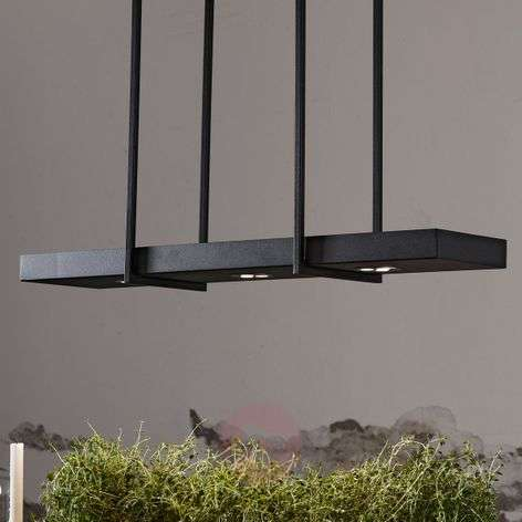 Smart LED hanging lamp Tray in black-6505631-31
