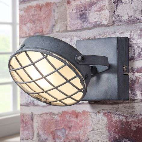 Smoky grey LED spotlight Tamin, industrial style