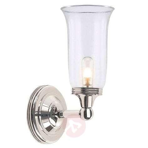 Smooth glass - bathroom wall light Austen 2 nickel