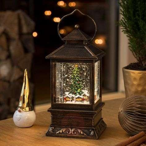 Snow lantern Christmas Market LED water-filled