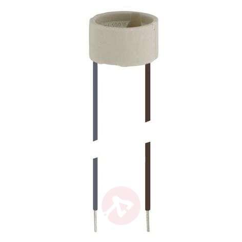 Socket for HV halogen lamp, base GU10
