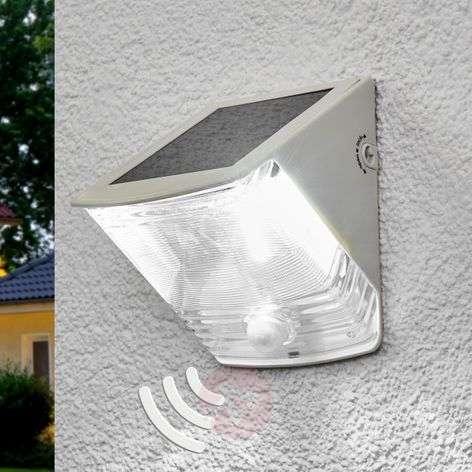 SOL 04 IP44 solar LED wall light, white