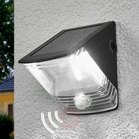SOL 04 solar LED Wall light with IP44, black-1540166-31