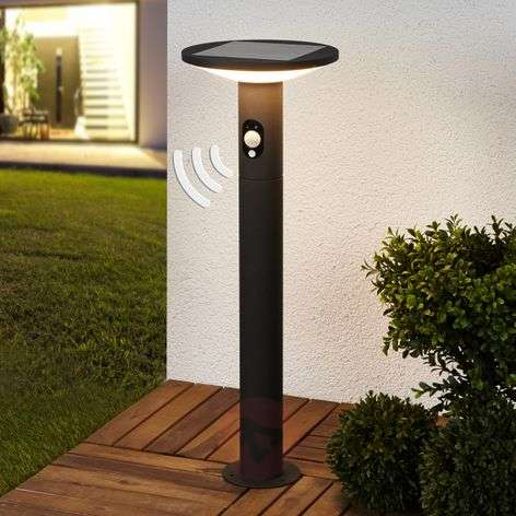 Solar LED path light Jersy in graphite grey, 60 cm