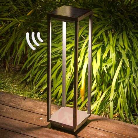 Solar LED pillar light Saura with motion sensor