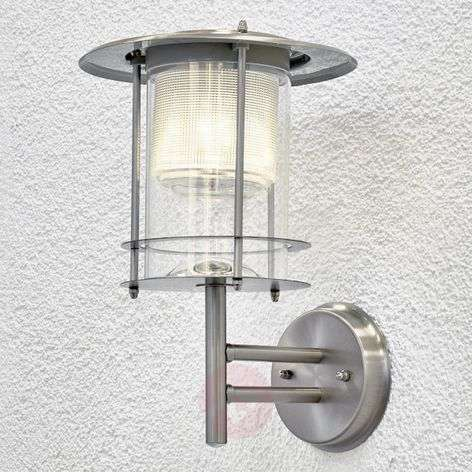 Solar LED wall light Liss made of stainless steel