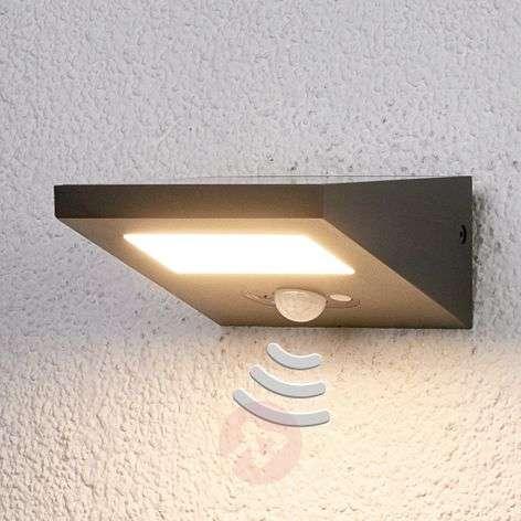 Solar outdoor wall lamp Felin with downlight