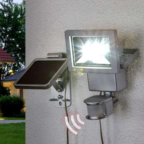 Solar-powered LED spotlight Roni, motion detector