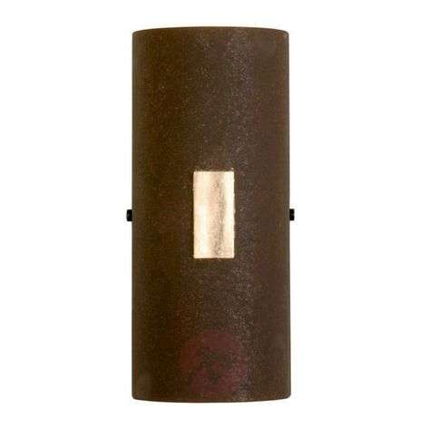 SOLO wall light in rust with gold leaf
