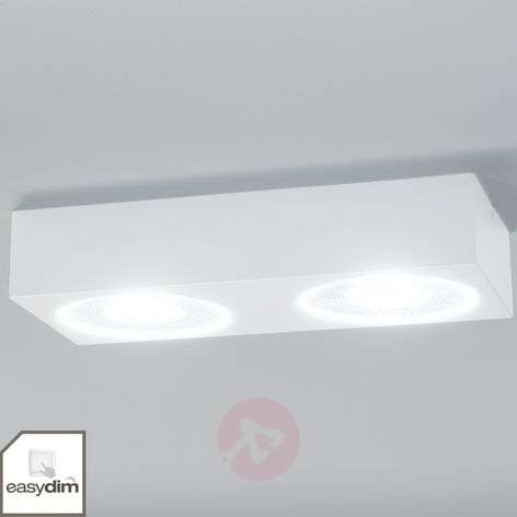 Sonja two-bulb LED ceiling light, Easydim