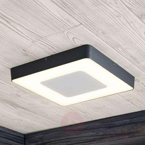 Sora LED outdoor ceiling light, angular