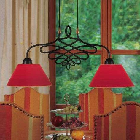 SORENT hanging light with red lampshades