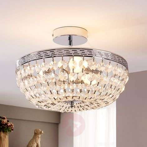 Sparkling crystal ceiling light Mondrian