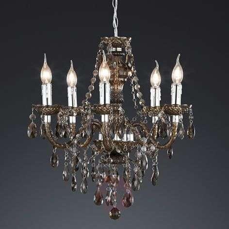Sparkling Perdita chandelier, black