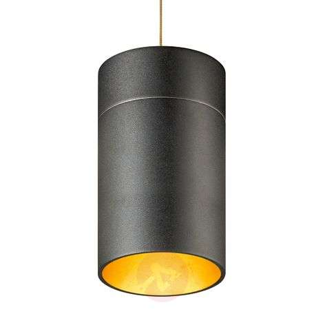 Special pendant light Tudor L 18.5 cm gold leaf