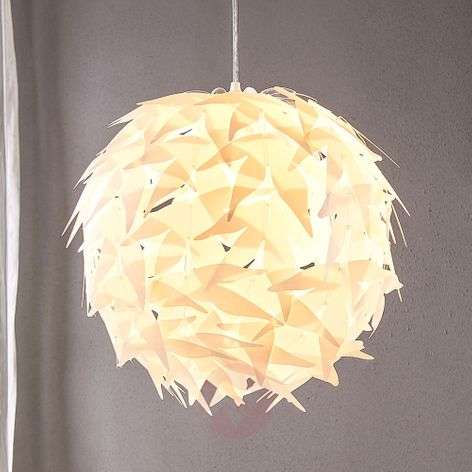 Spherical pendant light Corin in white