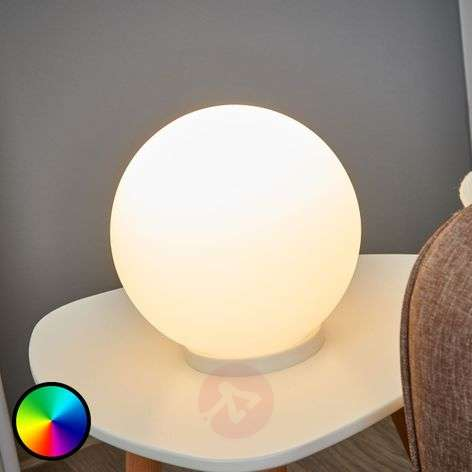 Spherical table lamp Rondo-C LED RGBW-3031995-31