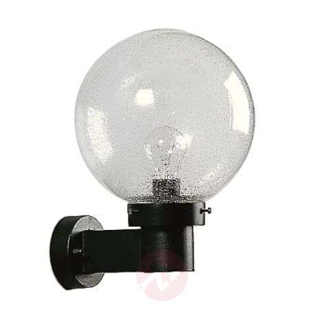 Spherical wall light for outdoor areas