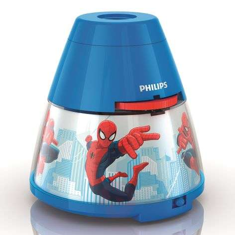 Spiderman LED table lamp with projector
