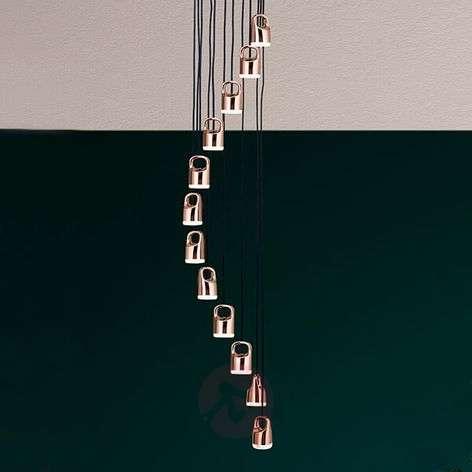 Spiral-shaped LED hanging light Tinus