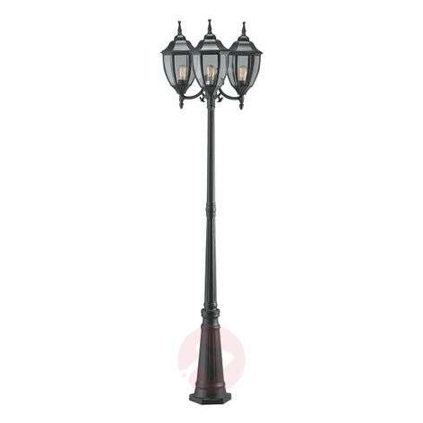 Splendid 3-bulb Jonna post light, black