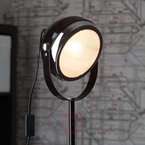 Spotlight floor lamp RIDER, black