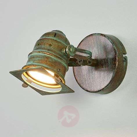 Spotlight Janek with LED bulb and verdigris effect-9639083-33