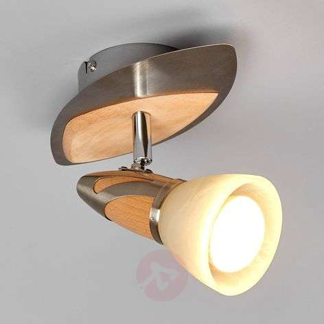 Spotlight Marena with a wooden finish, E14 R50 LED