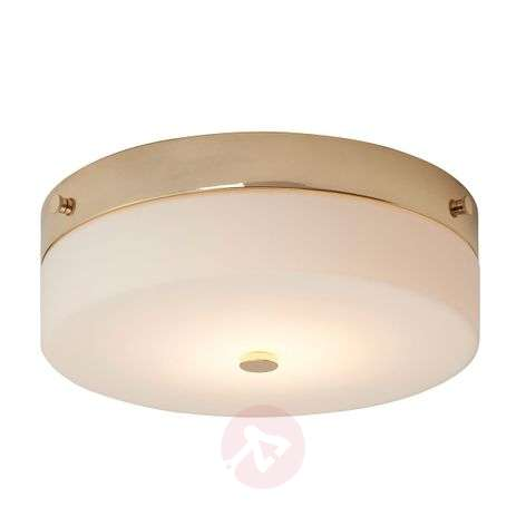 Spray water-protected LED ceiling lamp Tamar, gold