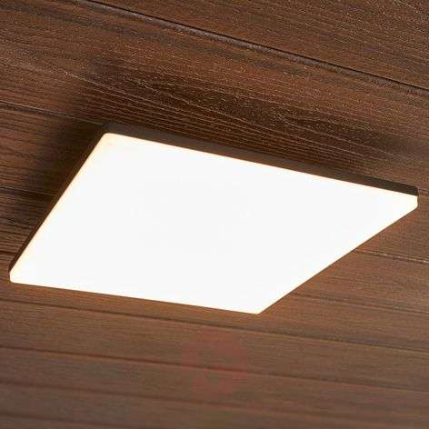 Square LED ceiling light Henni for outdoors