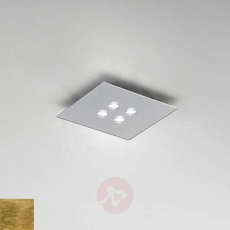 Square LED ceiling light Slim, 4-bulb