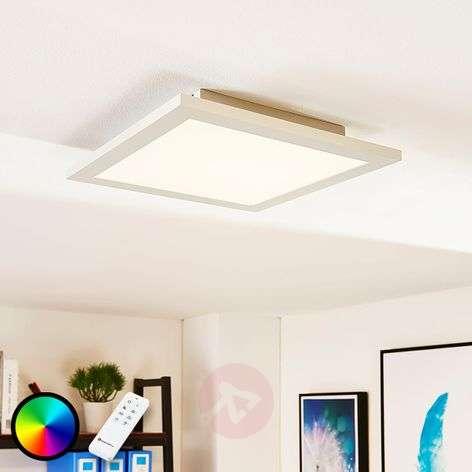Square LED panel Tinus, RGB and warm white