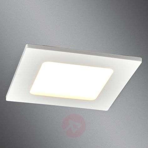 Square LED recessed light Feva in white, 5 W-9978016-339
