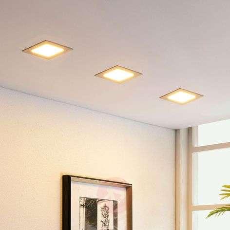Square LED recessed light Martje