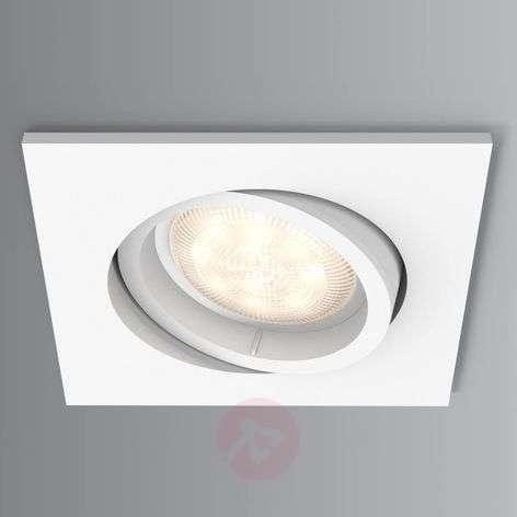 Square led recessed spotlight shellbark warmglow