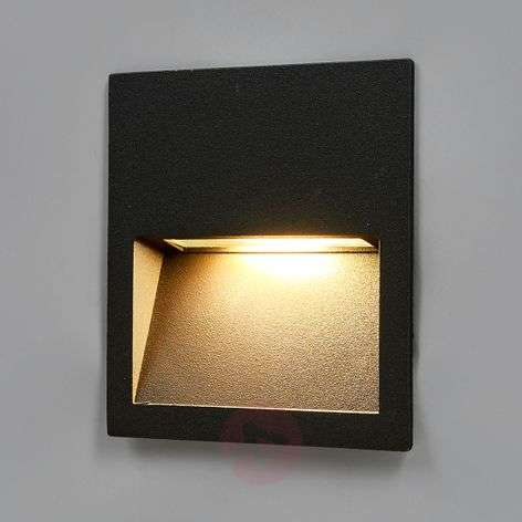 Square LED recessed wall light Loya for outdoors-9969038-32