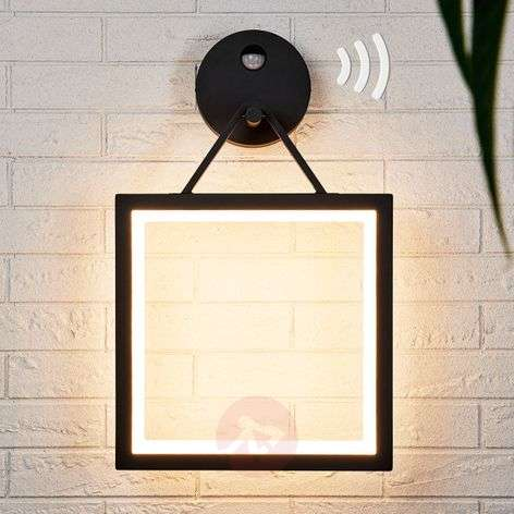Square LED wall lamp Mirco with motion detector