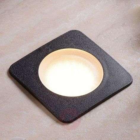 Square recessed floor light CECI 120-SQ blk.