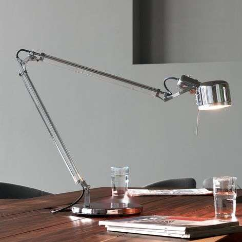 Stainless steel desk lamp Job with real glass