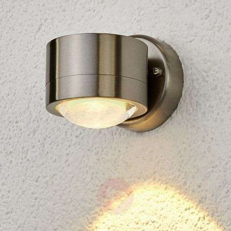 Stainless steel LED outdoor wall lamp Lydia