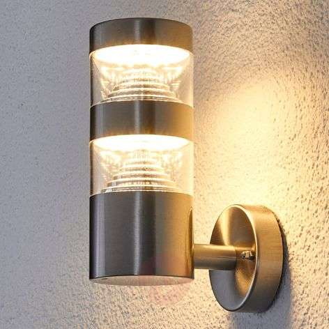 Stainless steel LED outdoor wall light Lanea