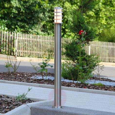 Stainless steel path light Selina with grid